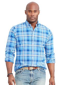 Polo Ralph Lauren Big & Tall Plaid Oxford Shirt