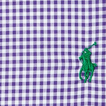 Young Men: Polo Ralph Lauren Dress Shirts: Purple/White Polo Ralph Lauren Gingham Regent Dress Shirt