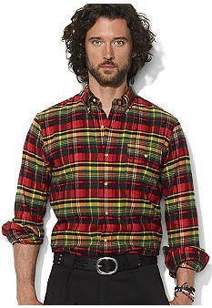 Polo Ralph Lauren Custom-Fit Plaid Cotton Sport Shirt
