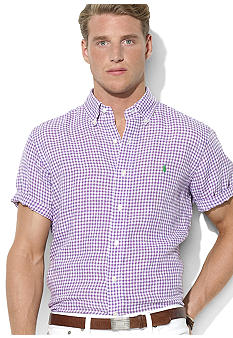 Polo Ralph Lauren Classic-Fit Gingham Linen Shirt