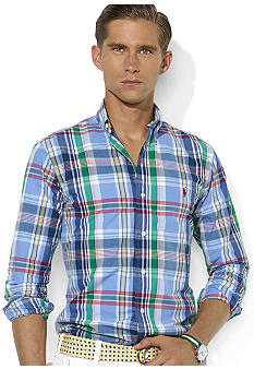 Polo Ralph Lauren Classic-Fit Plaid Poplin Shirt