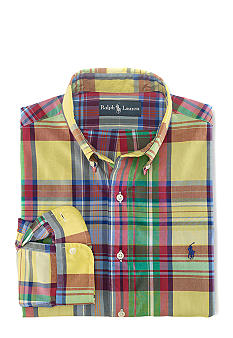 Polo Ralph Lauren Custom-Fit Plaid Poplin Shirt