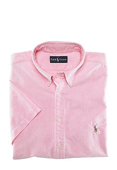 Polo Ralph Lauren Big & Tall Classic-Fit Short-Sleeved Oxford Cotton Shirt