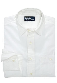 Polo Ralph Lauren White-Washed Chambray Workshirt