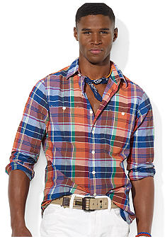 Polo Ralph Lauren Madras Point-Collar Workshirt