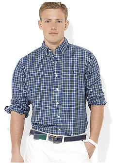 Polo Ralph Lauren Classic-Fit Checked Linen-and-Cotton Shirt