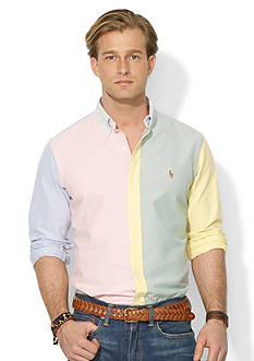 Polo Ralph Lauren Classic-Fit Color-Blocked Oxford Shirt