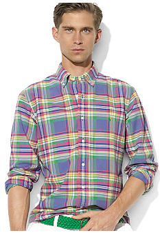 Polo Ralph Lauren Custom-Fit Plaid Oxford Shirt