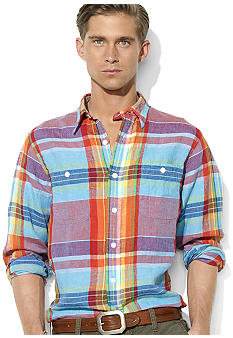 Polo Ralph Lauren Classic-Fit Plaid Linen Shirt
