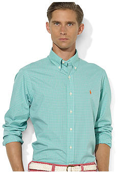 Polo Ralph Lauren Custom-Fit Tattersall Poplin Shirt