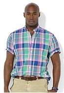 Polo Ralph Lauren Big & Tall Classic-Fit Short-Sleeved Madras Shirt