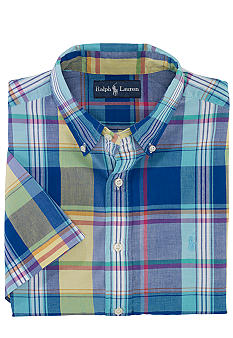 Polo Ralph Lauren Classic-Fit Madras Button-Down Shirt