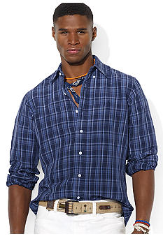 Polo Ralph Lauren Custom-Fit Plaid Silk-and-Linen Shirt