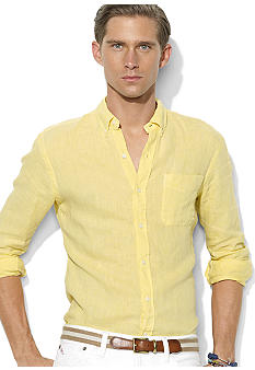 Polo Ralph Lauren Custom-Fit Linen Button-Down Shirt