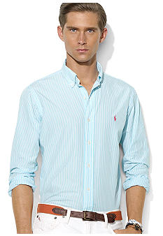 Polo Ralph Lauren Custom-Fit Striped Button-Down Shirt