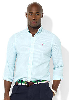 Polo Ralph Lauren Big & Tall Classic-Fit Long-Sleeved Striped Button-Down Shirt