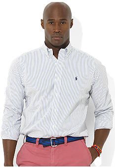 Polo Ralph Lauren Big & Tall Classic-Fit Long-Sleeved Striped Cotton Shirt
