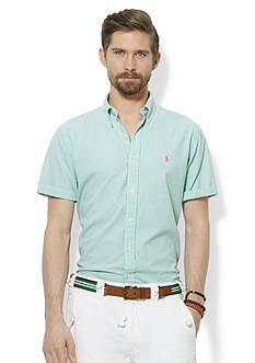 Polo Ralph Lauren Classic-Fit Short-Sleeved Striped Seersucker Shirt