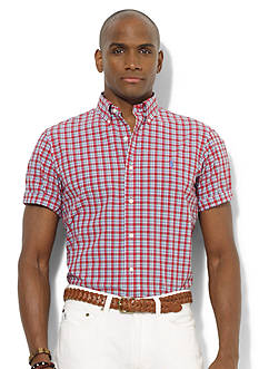 Polo Ralph Lauren Custom-Fit Short-Sleeved Plaid Poplin Sport Shirt