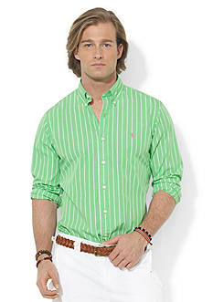 Polo Ralph Lauren Custom-Fit Striped Poplin Sport-Shirt