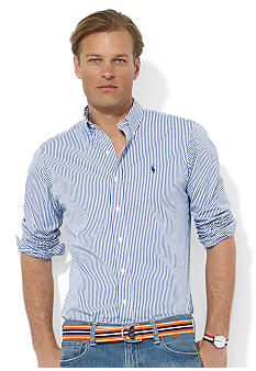 Polo Ralph Lauren Custom-Fit Striped Sueded Broadcloth Shirt