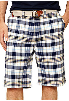 Nautica Big & Tall Plaid Shorts