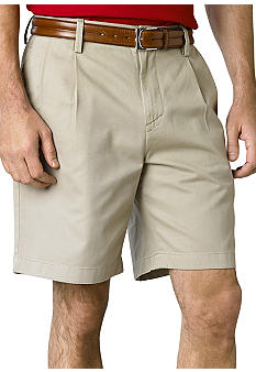 Nautica Solid Pleated Shorts