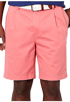 Nautica Khaki Double Pleat Shorts