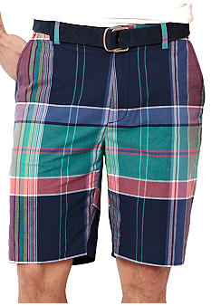 Nautica Plaid Yarn-Dye Shorts