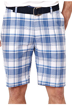 Nautica Flat Front Plaid Shorts