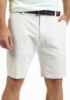 Nautica Flat Front Trim Fit Seersucker Shorts