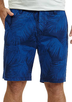 Nautica Trim Fit Palm Print Shorts