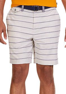 Nautica Modern Fit Striped Oxford Shorts