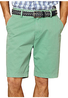 Nautica Big & Tall Twill Flat Front Shorts