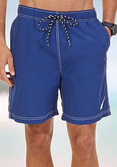 Nautica Big & Tall Quick Dry J-Class Swim Trunks