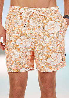 Nautica Big & Tall Quick Dry Tropic Floral Swim Trunks