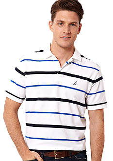 Nautica Anchor Stripe Performance Deck Shirt