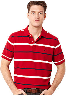 Nautica Anchor Stripe Performance Deck Shirt