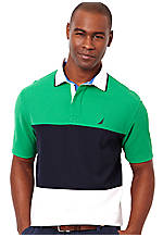 Nautica Pieced Polo Knit