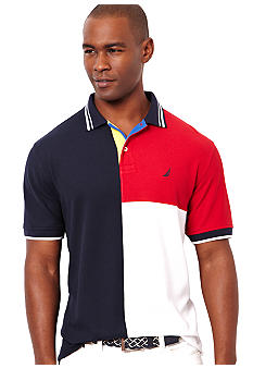 Nautica Colorblock Polo Knit