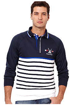 Nautica Rag Stripe Polo Knit