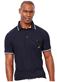 Nautica Performance Chest Pocket Polo Knit