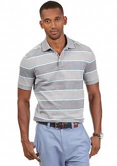 Nautica Short Sleeve Oxford Stripe Polo