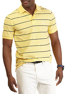 Nautica Short Sleeve Striped Performance Deck Shirt