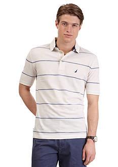 Nautica Short-Sleeve Clean Stripe Polo