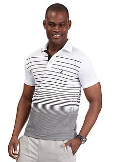 Nautica Short Sleeve Trim Fit Linear Stripe Polo
