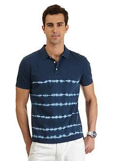 Nautica Short Sleeve Tie-Dye Stripe Polo