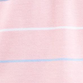 Young Men: Polo Shirts Sale: Conch Shell Pink Nautica Short Sleeve Oxford Stripe Polo Shirt