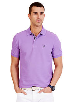 Nautica Short Sleeve Solid Deck Polo Shirt