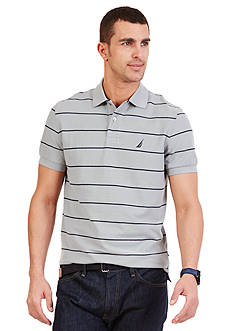 Nautica Short Sleeve Stripe Deck Polo Shirt